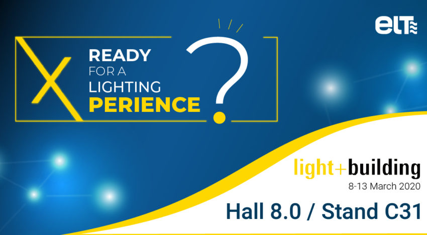ELT estará presente en Light+Building 2020